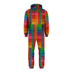 Texture Surface Rainbow Festive Hooded Jumpsuit (Kids)