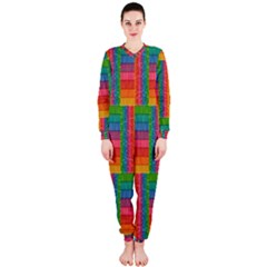 Texture Surface Rainbow Festive OnePiece Jumpsuit (Ladies)
