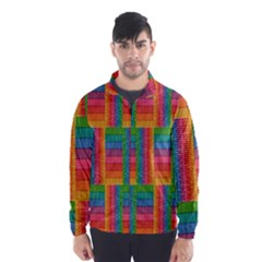 Texture Surface Rainbow Festive Wind Breaker (Men)
