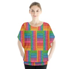 Texture Surface Rainbow Festive Blouse