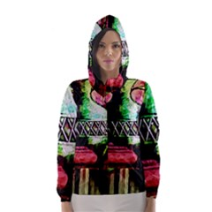 Three Earthen Vases Hooded Wind Breaker (women)
