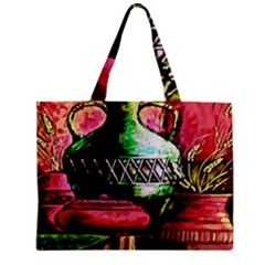 Three Earthen Vases Zipper Mini Tote Bag