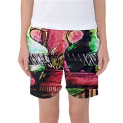 Three Earthen Vases Women s Basketball Shorts