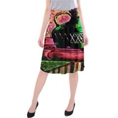 Three Earthen Vases Midi Beach Skirt