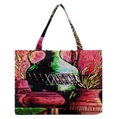 Three Earthen Vases Medium Zipper Tote Bag