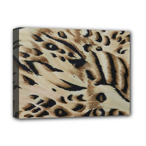 Tiger Animal Fabric Patterns Deluxe Canvas 16  X 12