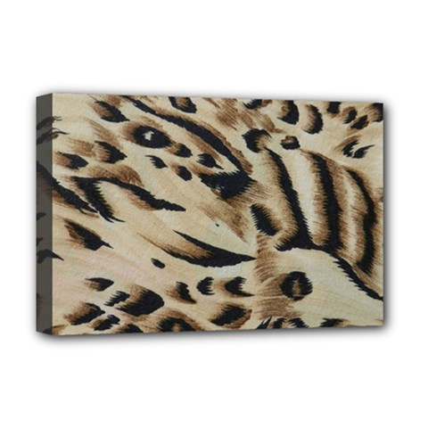Tiger Animal Fabric Patterns Deluxe Canvas 18  X 12