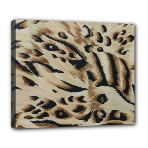 Tiger Animal Fabric Patterns Deluxe Canvas 24  x 20
