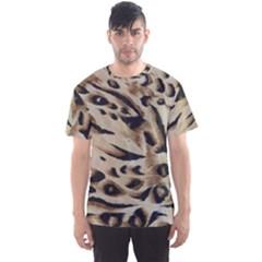 Tiger Animal Fabric Patterns Men s Sport Mesh Tee