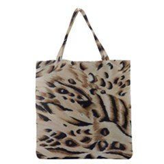 Tiger Animal Fabric Patterns Grocery Tote Bag