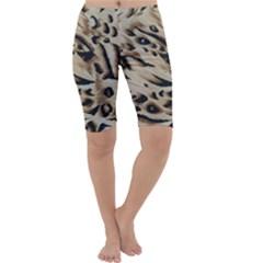 Tiger Animal Fabric Patterns Cropped Leggings