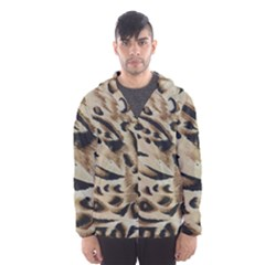 Tiger Animal Fabric Patterns Hooded Wind Breaker (men)