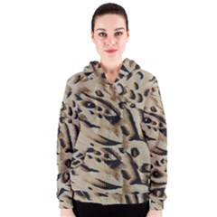 Tiger Animal Fabric Patterns Women s Zipper Hoodie