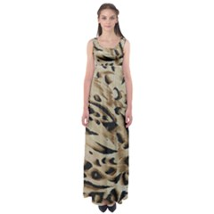 Tiger Animal Fabric Patterns Empire Waist Maxi Dress