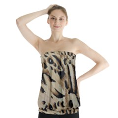 Tiger Animal Fabric Patterns Strapless Top
