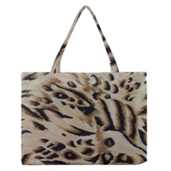 Tiger Animal Fabric Patterns Medium Zipper Tote Bag
