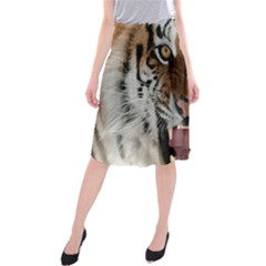Tiger  Midi Beach Skirt