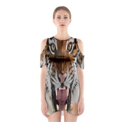 Tiger  Shoulder Cutout One Piece