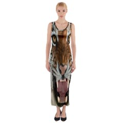 Tiger  Fitted Maxi Dress