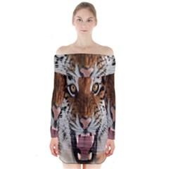 Tiger  Long Sleeve Off Shoulder Dress