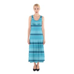 The Background Strips Sleeveless Maxi Dress
