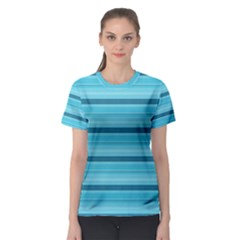 The Background Strips Women s Sport Mesh Tee