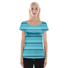 The Background Strips Women s Cap Sleeve Top