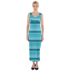 The Background Strips Fitted Maxi Dress