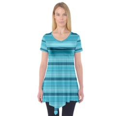 The Background Strips Short Sleeve Tunic