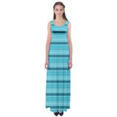 The Background Strips Empire Waist Maxi Dress
