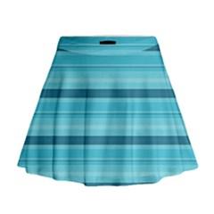 The Background Strips Mini Flare Skirt