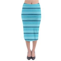 The Background Strips Midi Pencil Skirt