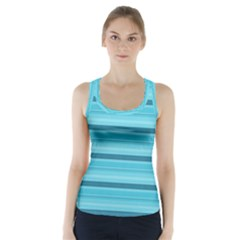 The Background Strips Racer Back Sports Top