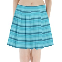 The Background Strips Pleated Mini Skirt