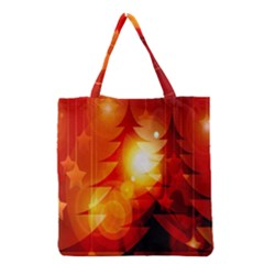 Tree Trees Silhouettes Silhouette Grocery Tote Bag