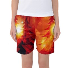 Tree Trees Silhouettes Silhouette Women s Basketball Shorts