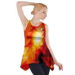 Tree Trees Silhouettes Silhouette Side Drop Tank Tunic