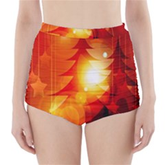 Tree Trees Silhouettes Silhouette High-Waisted Bikini Bottoms