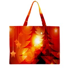 Tree Trees Silhouettes Silhouette Large Tote Bag