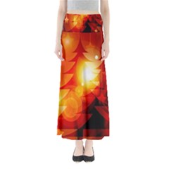Tree Trees Silhouettes Silhouette Maxi Skirts