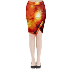 Tree Trees Silhouettes Silhouette Midi Wrap Pencil Skirt