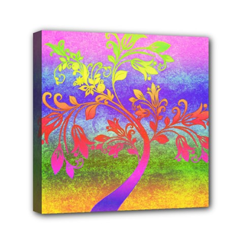 Tree Colorful Mystical Autumn Mini Canvas 6  x 6