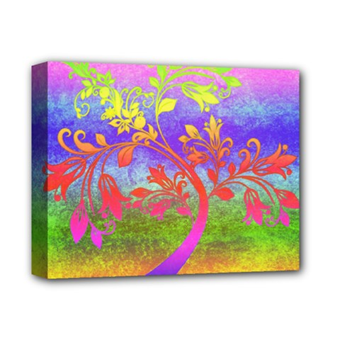 Tree Colorful Mystical Autumn Deluxe Canvas 14  X 11