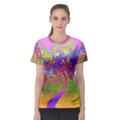 Tree Colorful Mystical Autumn Women s Sport Mesh Tee
