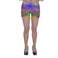 Tree Colorful Mystical Autumn Skinny Shorts