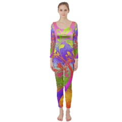 Tree Colorful Mystical Autumn Long Sleeve Catsuit