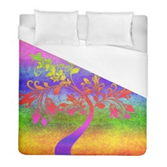 Tree Colorful Mystical Autumn Duvet Cover (full/ Double Size)