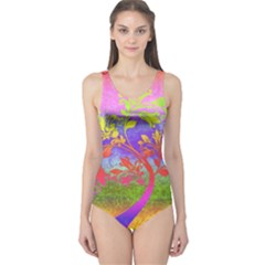 Tree Colorful Mystical Autumn One Piece Swimsuit