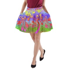 Tree Colorful Mystical Autumn A Line Pocket Skirt