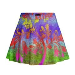 Tree Colorful Mystical Autumn Mini Flare Skirt